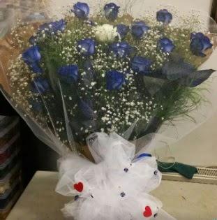 Mavi güllerden kız isteme buket çiçeği  Ankara Anadolu internetten çiçek siparişi