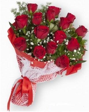 15 adet kırmızı gülden kız isteme buketi  Ankara Anadolu çiçek gönderme