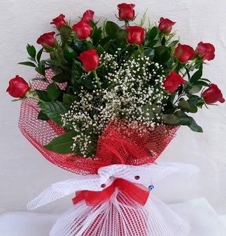 Kız isteme çiçeği buketi 13 adet kırmızı gül  Ankara Anadolu Anadolu İnternetten çiçek siparişi