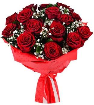Kız isteme çiçeği buketi 17 adet kırmızı gül  Ankara Anadolu çiçekçi telefonları