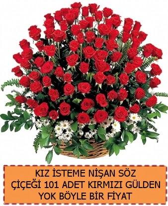 101 Güllü söz nişan kız isteme çiçeği  Ankara Anadolu çiçek satışı