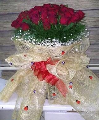 41 adet kırmızı gülden kız isteme buketi  Ankara Anadolu internetten çiçek satışı
