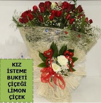 27 adet kırmızı gülden kız isteme buketi  Ankara Anadolu çiçek satışı