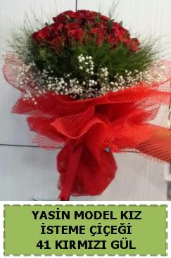 41 Adet kırmızı gül kız isteme çiçeği  Ankara Anadolu çiçek gönderme sitemiz güvenlidir