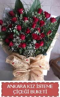 Kız isteme çiçeği kız isteme buket modeli  Ankara Anadolu internetten çiçek siparişi