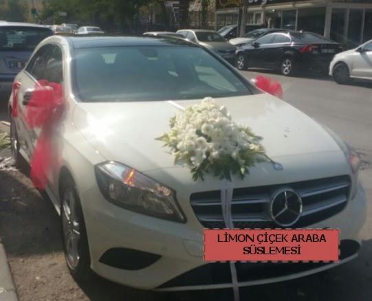 Araba süslemesi gelin arabası süsleme modeli  Ankara Anadolu çiçek satışı
