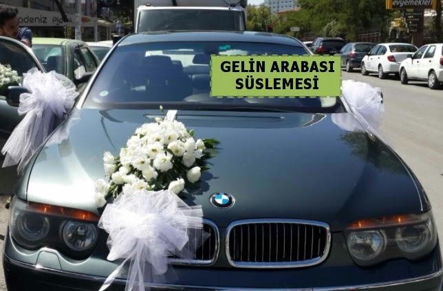 Gelin Arabası süslemesi Düğün arabası  Ankara Anadolu çiçek yolla