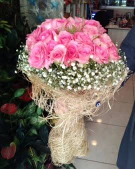 33 adet pembe gül nişan kız isteme buketi  Ankara Anadolu çiçek gönderme sitemiz güvenlidir