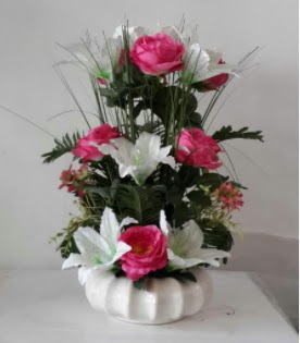 Porselen tabak yapay çiçek  Ankara Anadolu çiçek yolla