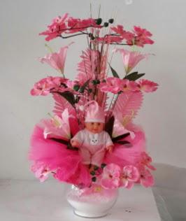 Pembe cam bebekli bebek doğum çiçeği  Ankara Anadolu çiçek satışı