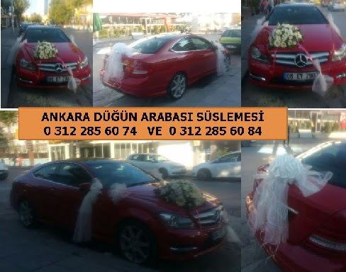 Düğün arabası süslemesi 11 beyaz gülden gelin çiçeği buketi hediye  Ankara Anadolu çiçek yolla