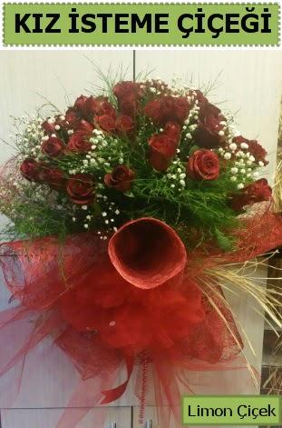 41 adet kırmızı gülden kız isteme buketi  Ankara Anadolu çiçek satışı