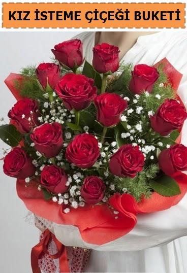 Kız isteme buketi çiçeği 17 gül  Ankara Anadolu çiçekçi telefonları