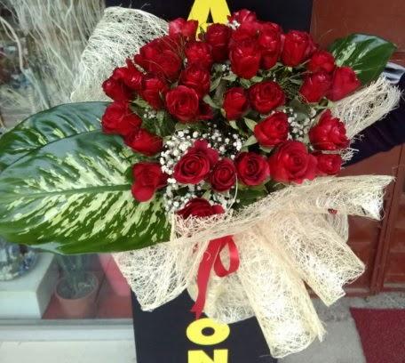 41 adet kırmızı gül Kız isteme çiçeği buketi  Ankara Anadolu çiçekçi telefonları