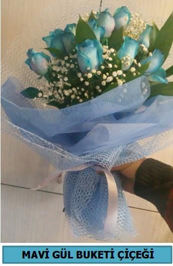 12 adet mavi gülden mavi buket  Ankara Anadolu çiçekçi telefonları