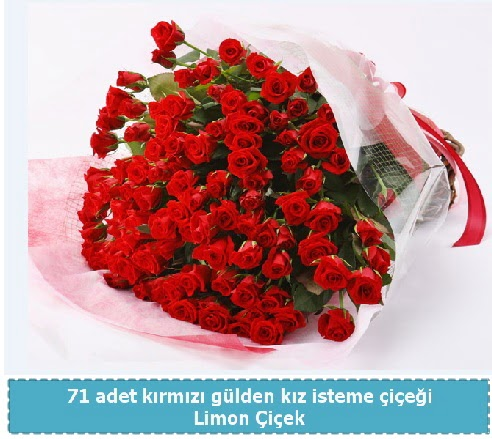 41 adet kırmızı gül kız isteme buketi  Ankara Anadolu çiçekçi telefonları