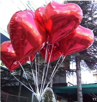 8 adet folyo kalp uçan balon  Ankara Anadolu ucuz çiçek gönder