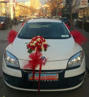 Araba süslemesi gelin arabası  Ankara Anadolu çiçek , çiçekçi , çiçekçilik