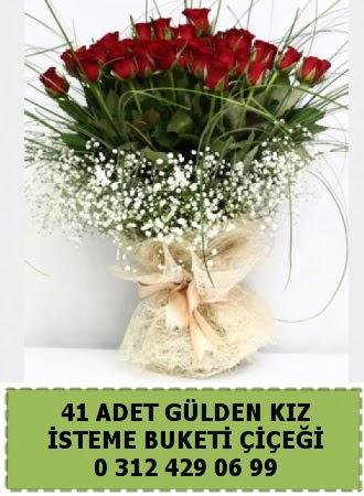 41 kırmızı gülden kız isteme çiçeği buketi  Ankara Anadolu çiçek gönderme sitemiz güvenlidir w