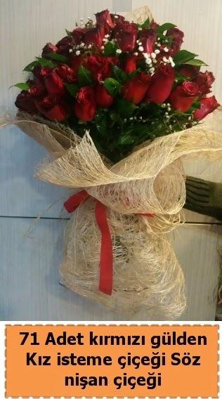 71 adet kırmızı gül söz nişan çiçeği  Ankara Anadolu çiçek satışı