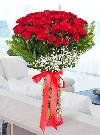 Vazoda 41 kırmızı Gül (Maşallah)  Ankara Anadolu çiçekçiler