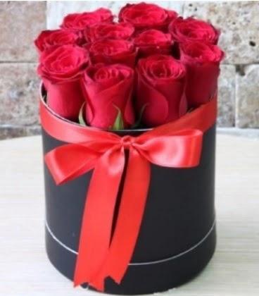Kutu içerisinde 9 adet kırmızı gül  Ankara Anadolu çiçekçiler