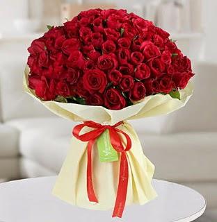 101 adet kırmızı gül buketi koca demet  Ankara Anadolu internetten çiçek siparişi