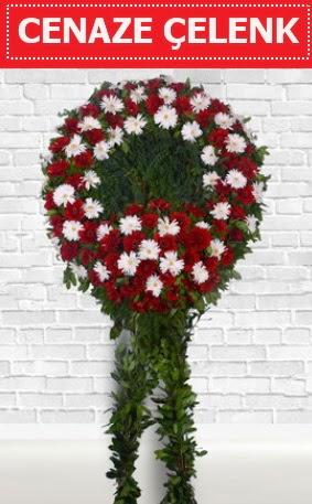 Kırmızı Beyaz Çelenk Cenaze çiçeği  Ankara Anadolu Anadolu İnternetten çiçek siparişi