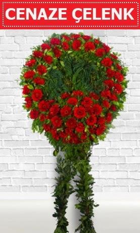 Kırmızı Çelenk Cenaze çiçeği  Ankara Anadolu Anadolu İnternetten çiçek siparişi