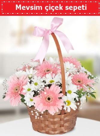 Mevsim kır çiçek sepeti  Ankara Anadolu çiçek , çiçekçi , çiçekçilik