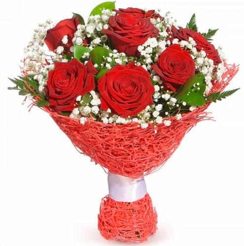 7 adet kırmızı gül buketi  Ankara Anadolu çiçekçiler