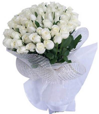 41 adet beyaz gülden kız isteme buketi  Ankara Anadolu çiçek siparişi sitesi