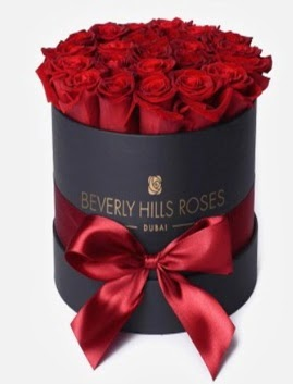 Siyah kutuda 25 adet kırmızı gül tanzimi  Ankara Anadolu Anadolu İnternetten çiçek siparişi
