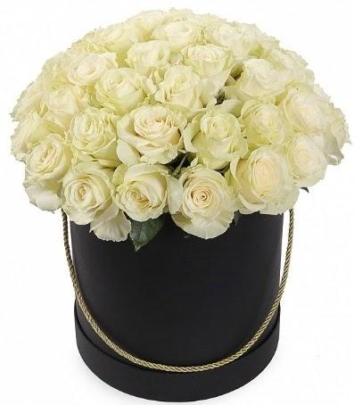 33 adet beyaz gül özel kutuda isteme çiçeği  Ankara Anadolu internetten çiçek satışı