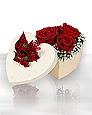 Ankara Anadolu hediye sevgilime hediye çiçek  Kutuda 5 adet harika gül