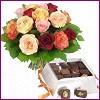 Ankara Anadolu internetten çiçek siparişi  Renkli Güller ve çikolata